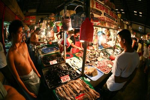 Fish market, Makati, Manila.